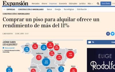 COMPRAR UN PISO PARA ALQUILAR OFRECE UN RENDIMIENTODE MÁS DEL 11%