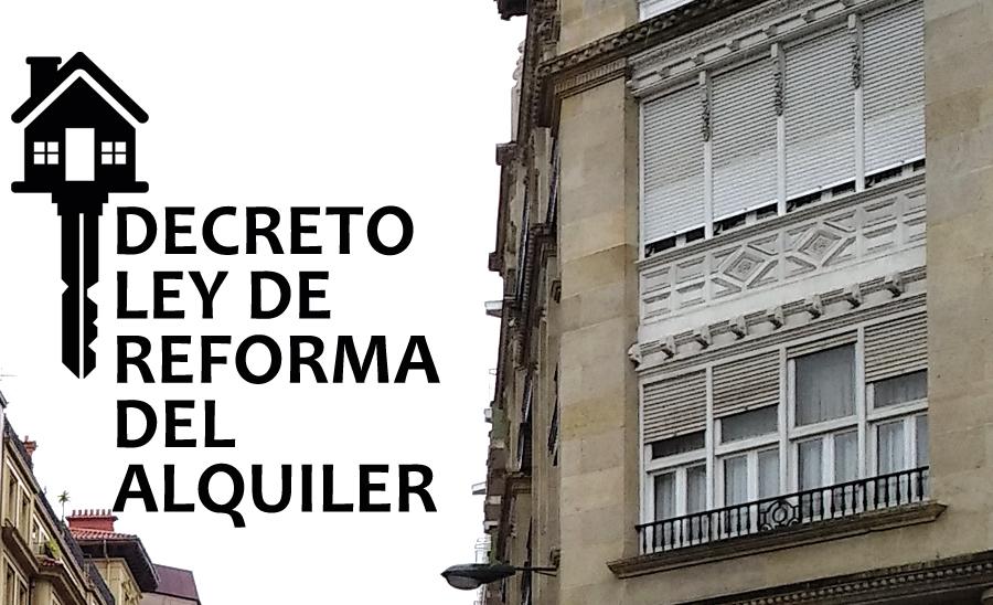 EL GOBIERNO APRUEBA UN DECRETO LEY SOBRE EL ALQUILER