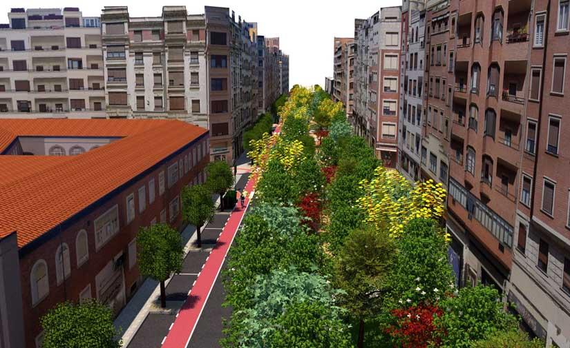 Un nuevo corredor verde en Bilbao
